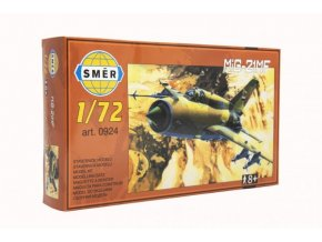 Model MiG-21 MF 1:72 15x21,8cm v krabici 25x14,5x4,5cm