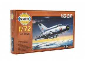 Model MiG-21R 1:72 15x21,8cm v krabici 25x14,5x4,5cm