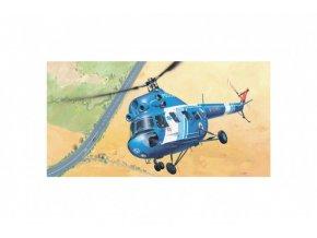Model Kliklak Vrtulník Mil Mi 2 - Policie 27,6x30cm v krabici 34x19x5,5cm