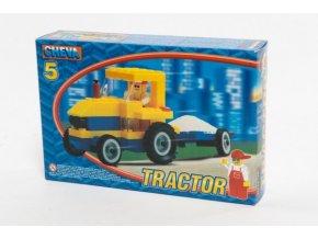 Stavebnice Cheva 5 Traktor s vlekem 84ks v krabici