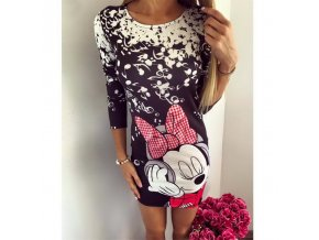 Cute Cartoon Printed Women Summer Dress 2018 Half Sleeve Sheath Casual Dress O Neck Elegant Bodycon 1