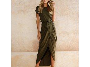 Summer Women Dress 2019 Solid Plus Size Women Long Dress Short Sleeve Sexy Irregular Party Casual 1