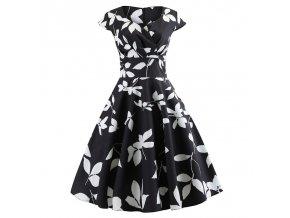 Casual Summer Dress Women Short Sleeve Hepburn 50s 60s Vintage Elegant Swing Party Dresses Plus Size 010