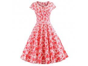 Casual Summer Dress Women Short Sleeve Hepburn 50s 60s Vintage Elegant Swing Party Dresses Plus Size 007