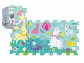 Pěnové puzzle 8ks Hra s lamou 32x32cm v sáčku 24m+