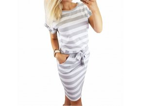 Elegant New Striped Summer Dress Women Casual Vintage Dress Sexy Bandage Bodycon Short Sleeve Dresses Sundress 1