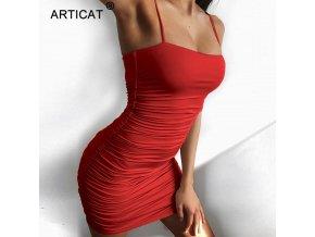 Articat Black Sexy Bodycon Summer Dress 2019 Strapless Spaghetti Strap Bandage Mini Dress Party Casual Basic 1