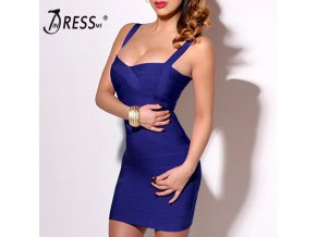 INDRESSME 2019 Bandage Dress Sexy Mini Spaghetti Strap Bodycon Strapless Club Party Summer Lady Dresses Femme 1
