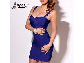 INDRESSME 2019 Bandage Dress Sexy Mini Spaghetti Strap Bodycon Strapless Club Party Summer Lady Dresses Femme 1
