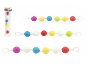 Řetěz/zábrana barevné plast 40cm asst v sáčku 0m+