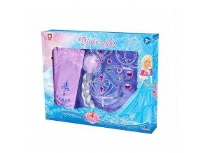 Dětská sada princezna s příslušenstvím a rukavicemi, růžová