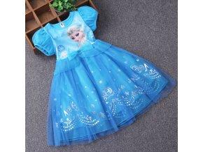 Dívčí šaty se síťovanou sukní Ledové království (Frozen)