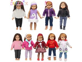 Zimní módní oblečení na panenky Baby Born 43 cm