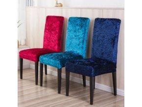 Sametové jednobarevné potahy na židle