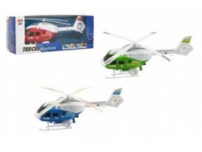 Vrtulník/Helikoptéra na natažení plast 21cm 3 barvy v krabičce 24x9x7cm