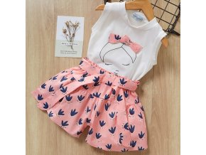 Bear Leader 2019 New Summer Casual Children Sets Flowers Blue T shirt Pants Girls Clothing Sets Pink az803