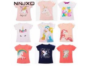 Dívčí tričko s krátkým rukávem, Unicorn
