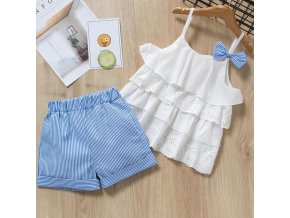Bear Leader 2019 New Summer Casual Children Sets Flowers Blue T shirt Pants Girls Clothing Sets az1758 white