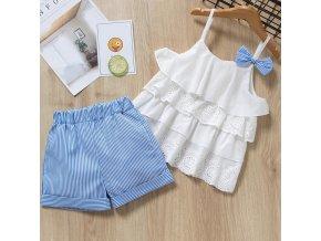Bear Leader 2019 New Summer Casual Children Sets Flowers Blue T shirt Pants Girls Clothing Sets az1758 white