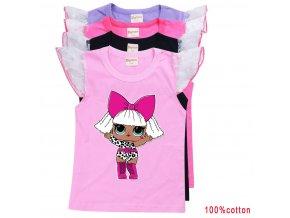 Dívčí trička s potiskem panenek L.O.L. surprise