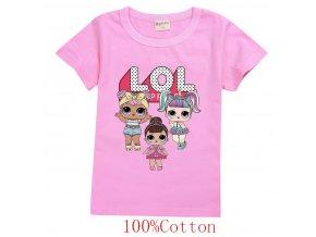 Bavlněná dívčí trička s potiskem panenek L.O.L. Surprise
