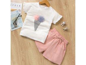 Bear Leader 2019 New Summer Casual Children Sets Flowers Blue T shirt Pants Girls Clothing Sets white az1541