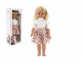 Panenka Hamiro chodící mrkací 60cm, pevné tělo, široká sukně v krabici 24x60x15cm