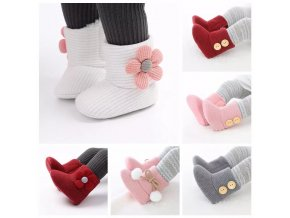 2020 Toddler Newborn Baby Crawling Shoes Booties Boy Girl Slippers Prewalker Trainers Fur Winter Flower First.jpg Q90.jpg