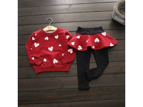 Toddler Girls Clothes kids Autumn Winter T shirt Pants Christmas clothes Girls printed Outfits Sport Suit Red