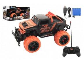 Auto RC buggy plast 27cm 27MHz na baterie + dobíjecí pack v krabici 36x18,5x19cm