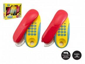 Telefony pokoj - pokoj plast 2ks na baterie vzdálenost 8m v krabici 30x24x7cm