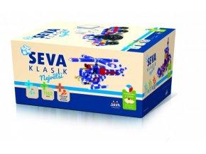 Stavebnice SEVA KLASIK Největší plast 1162ks v krabici 27x38x18cm