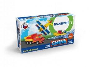 Stavebnice Cheva 1 Basic plast 309ks v krabici 35x19x9cm