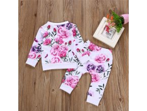 kid autumn winter suit Clothes Floral full sleeve O Neck T shirt Tops Pants 2PCS Outfits 1
