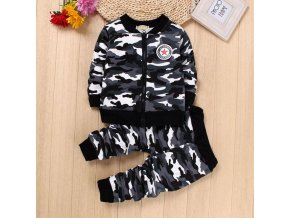 IENENS Winter Kids Baby Boys Girls Warm Camouflage Clothing Sets Coat Pants Children Boy Girl Military 1