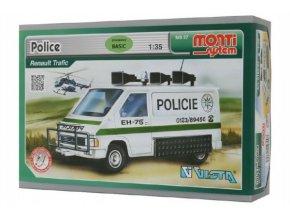 Stavebnice Monti System MS 27 Police Renault Trafic 1:35 v krabici 22x15x6cm