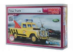 Stavebnice Monti System MS 56 Tow Truck Land Rover 1:35 v krabici 22x15x6cm