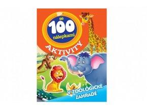 Aktivity Zvířata v ZOO se 100 samolepkami CZ verze 21x28cm