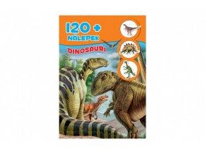 Knížka se samolepkami 120+ Dinosauři CZ verze 21x30cm
