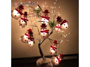 Světelný řetěz sněhulák, Santa Claus nebo sob