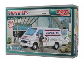 Stavebnice Monti System MS 27.1 Toptrans Trafic 1:35 v krabici 22x15x6cm