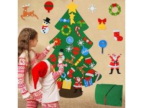 Plstěný vánoční stromeček pro děti
