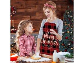Kuchyňská zástěra s vánočními motivy