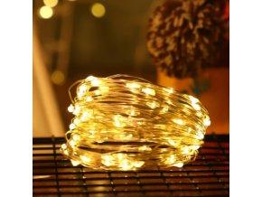 Dekorační světelný řetěz 1, 2, 3, 5 nebo 10 m