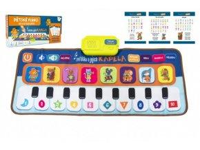 Elektronická hrací podložka pianko Zvířátka a jejich kapela 80x37cm na baterie v krabici 38x18x5cm