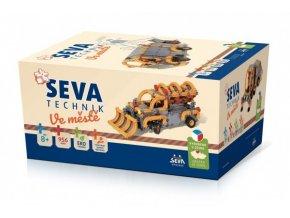 Stavebnice SEVA TECHNIK Ve městě plast 956 dílků v krabici 27x38x18cm