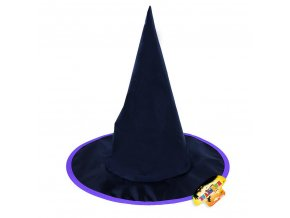 Čarodějnický klobouk s fialovým lemem