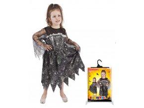 Dětský kostým Čarodejnice s pavučinou, M (6-8 let)