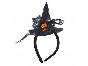 Čarodějnická čelenka pro děti Halloween
