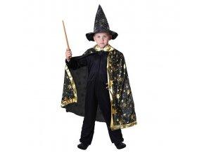 Dětský kouzelnický plášť černý